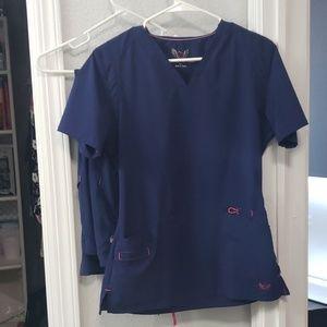 Smitten dark blue scrubs